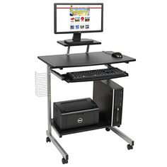 Best Choice Products Computer Desk Cart PC Laptop Table Study Portable Workstation Student Dorm Home Office Portable Computer Desk, Computer Workstation Desk, Portable Workstation, Computer Desks For Home, Office Computer Desk, Pc Desk, Small Computer, Gaming Computer, Cool Office Desk