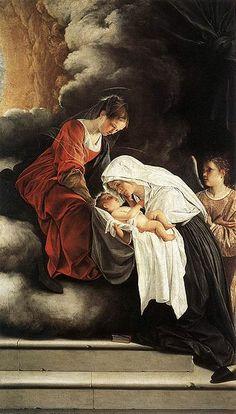 Orazio Gentileschi, Vision of St Francesca Romana. Galleria Nazionale delle Marche, Urbino