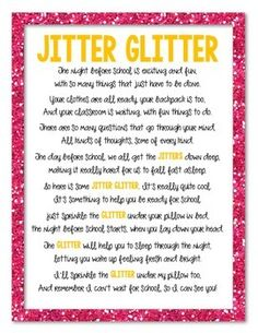 JITTER GLITTER FREEBIE - TeachersPayTeachers.com