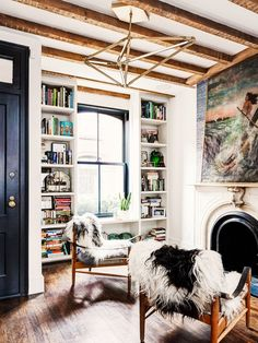 Inside a Small Brooklyn Townhouse with Major Style via @domainehome