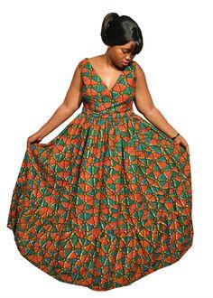 9db3b6350c7 Items similar to African Print Maxi dress - Plus size maxi dress - Ankara  Print maxi dress on Etsy