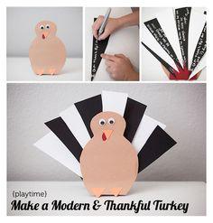DIY Gratitude Turkey - Modern Parents Messy Kids #thanksgivingcrafts #thanksgivingkids #holidaydrafts