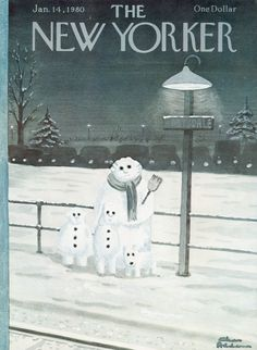 The New Yorker - Monday, January 14, 1980 - Issue # 2865 - Vol. 55 - N° 48 - Cover by : Charles Addams