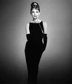 Audrey Hepburn in her simple yet elegant dress from Breakfast at Tiffany's.