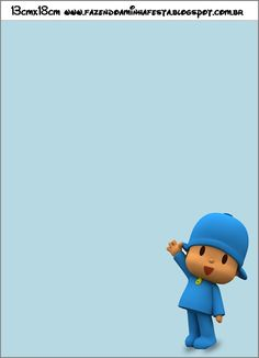 Pocoyo Party Invitations, Free Printables. Birthday Themes For Boys, 2nd Birthday Parties, Party Printables, Free Printables, Baby Sprinkle, Diy Party, Party Themes, Party Ideas, Party Invitations