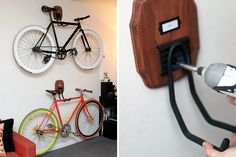 Good idea how to hang bikes at home.Do you have some advice how do it ?