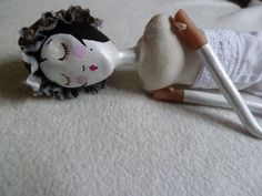 OOAK, Mixed media handmade doll