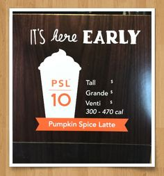 63030201d91 Pumpkin Spice Latte (PSL) returned early to Starbucks today to celebrate  its 10 year anniversary!