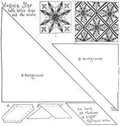 Virginia Star_101 Patchwork Patterns by Ruby Short McKim::Cutting Patterns