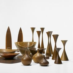 Rude Osolnik, Wood Turnings Collection, c1960. One of a small group of mid-century turners who transformed wood turning into fine art