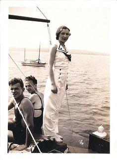 grandma rocking the nautical theme in the 1930s