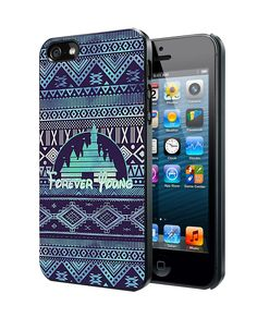 Forever Young Disney Aztec Pattern iPhone 4 4S 5 5S 5C Case