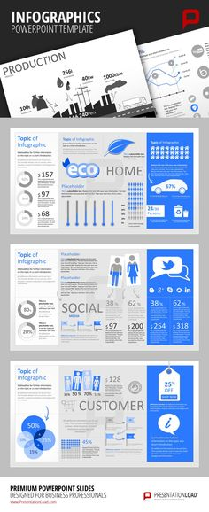 Infographic PowerPoint Templates Create marketing related infographics regarding…