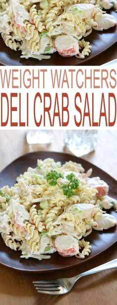 Weight Watchers Deli Crab Salad is a healthy dinner recipe just in time for your weight loss goals. #weightwatchers #lowfat