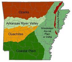 Ozarks Arkansas Map.Maps Maps And More Maps Of The Ozarks Ouachita Mountains