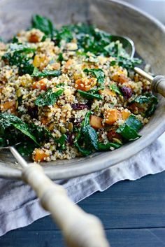 Warm Butternut, Kale   Quinoa Salad and Fair Trade Giveaway!