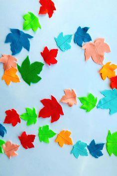 DIY Colorful Felt Leaf Garland