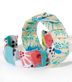 Folded Fabric Wrapped Bracelet | Fabric Wrap Bracelet | Create your own bracelet using fabric from @Jo-Ann Fabric and Craft Stores