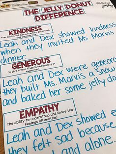 The Jelly Donut Difference {Teaching Kindness}