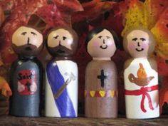 Wooden Saints Peg Dolls A to Z « Catholic Family Vignettes
