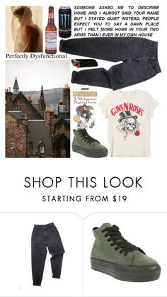 """""""Howl Clark"""" by shiasunflower ❤ liked on Polyvore featuring Levi's, Truffle, Midsummer, MadeWorn and A2 by Aerosoles"""