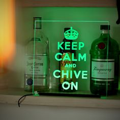 Keep Calm and Chive On Bar Sign