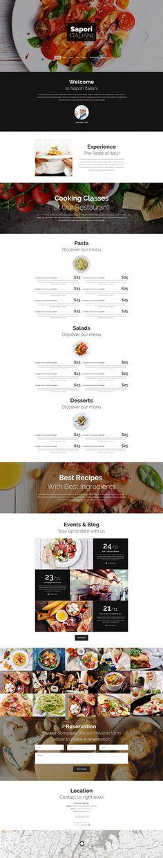 Italian Restaurant Free Drupal Theme #template http://www.templatemonster.com/italian-restaurant-free-drupal-theme.html?utm_source=Pinterest&utm_medium=timeline&utm_campaign=frrestpdr