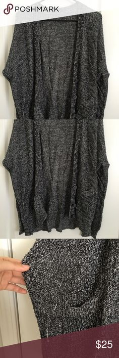 Brandy Melville Cardigan Worn with couple snags. One size. Brandy Melville Sweaters Cardigans