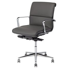 Nuevo Living Lucia Mid-Back Office Chair Gray - HGJL288