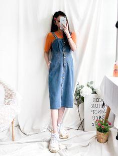 a942255e7628 Корейская Уличная Мода, Корейская Мода, Азиатская Мода, Корейское Платье,  Наряды В Стиле