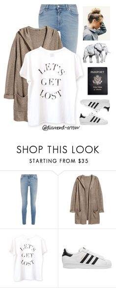 """I M  B A C K !"" by diamond-arrow ❤ liked on Polyvore featuring Givenchy, H&M, GET LOST, adidas Originals, Passport and country"