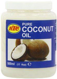 KTC Pure 100% Multipurpose Coconut Oil - Used For Hair, Cooking, Moisturiser