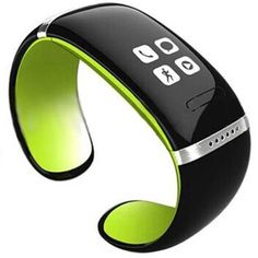 Anortime Oled Smart Vibrating Bracelet and Sports Pedometer Bluetooth Watch with Call Id Display / Answer / Dial / SMS Sync / Music Player Anti-lost for Samsung HTC More Android Smartphones (Green) -- Details can be found by clicking on the image.