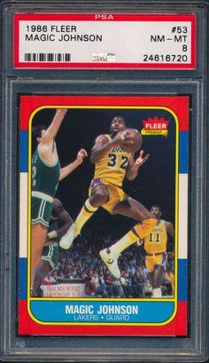 f4243982246 1986 fleer  53 magic johnson hof psa 8 nm-mt from  24.99 Magic Johnson ·  Magic Johnson LakersLa LakersBasketball CardsLos ...