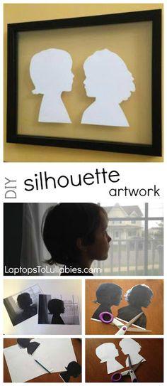 #DIY silhouette #art // Full tutorial // LaptopsToLullabies.com