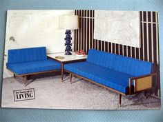 Rubee Sofalounge Vintage Advertising Postcard Mid Century Modern Furniture