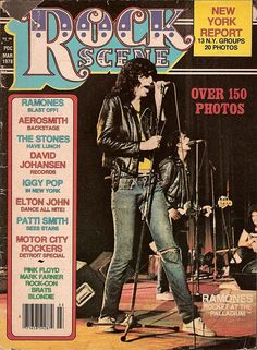 The Ramones on the cover of Rock Scene March 1978 Joey Ramone, Ramones, Punk Rock, Beatles, Punk Magazine, 1970s Music, Punk Baby, Iggy Pop, Thing 1