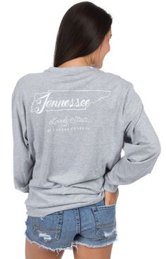 Tennessee Line Art Tee - Long Sleeve – Lauren James Co.