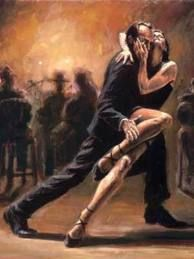 paso doble - the passion between the couple in the artwork is how I want the Bride and Leonardo to be played; as if they can't help but touch each other