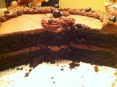 Maybe the most delicious chocolate cake ever...the infamous Black Magic Cake #recipe from justapinch.com!!
