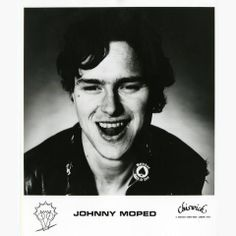 JOHNNY MOPED - 1977 Chiswick promo pic w/BARNEY BUBBLES logo!