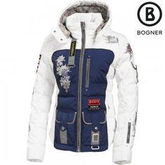 Bogner Laria-d Parka Down Size 14 Blue white Bogner 3a71748b3