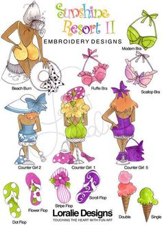 Sunshine Resort II Embroidery Design Collection  by loraliedesigns, $59.00