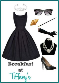 Breakfast at Tiffany's Audrey Hepburn Outfit / #Halloween Costume and Where to Buy http://ow.ly/SXVgz