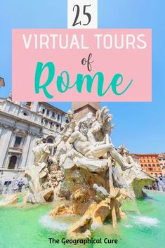 25 amazing virtual tours of Rome -- all Rome's must see sites and hidden gems Venice Travel, Rome Travel, Europe Travel Guide, Italy Travel, Travel Destinations, Italy Vacation, Virtual Travel, Virtual Tour, Rome Italy
