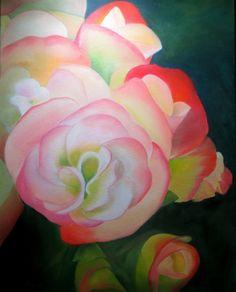 Begonias, painting by artist Carol Keene