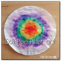 Coffee filter art – a fun way to make beautiful artwork while combining some science learning as well! - Kids education and learning acts Science Activities For Kids, Preschool Crafts, Science Party, Daycare Crafts, Kids Crafts, Coffee Filter Art, Coffee Filters, Experiment, Arts And Crafts Projects