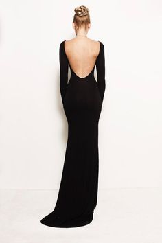 VIVIEN Open Back Backless Jersey Fitted by FROCKLosAngeles, $235.00