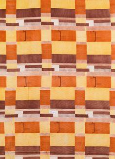 """Max Snischek (Dürnkrut 1891-1968 Hinterbrühl bei Mödling) Curtain fabric """"Dilly"""" Wiener Werkstätte, design: 1928 execution: Textildruckerei AMA, Friedler & Dr. Teltscher, Wien und Paul Wasservogel, Wien, 1928-1932 cotton, woven, printed; block cutter Franz Süß, Wien; signed on the selvedge in grey-blue: """"WIENER WERKSTÄTTE""""; 126 × 120 cm; 108 × 117 cm; 270 × 120 cm; 275 × 244 cm"""