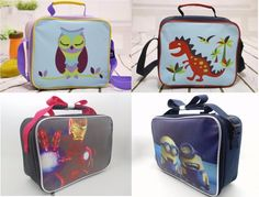 69.07$  Watch now - http://alib46.worldwells.pw/go.php?t=32756228747 - Newn kids lunch bags cartoon printed children snack bags girls boys food packages handbags canvas bag 69.07$